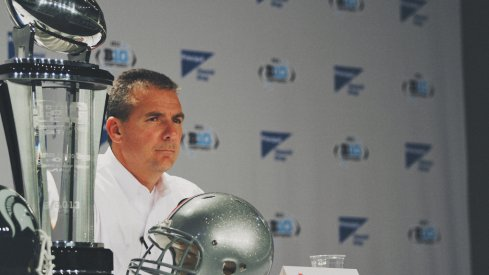 Urban Meyer prior to the Big Ten Championship Game in 2013