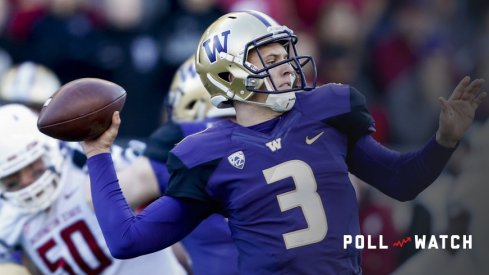 Jake Browning QBs Washington in the Apple Cup.