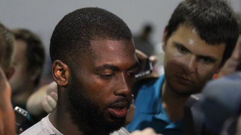 Ohio State QB J.T. Barrett meets with the media.