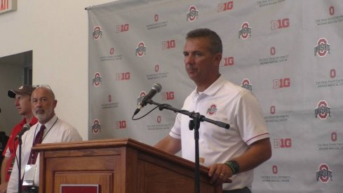 Urban Meyer addresses the media following Ohio State's win over Bowling Green.