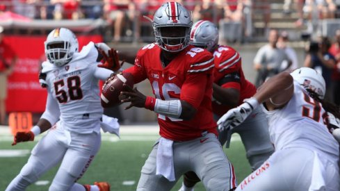 J.T. the QB racked up seven touchdowns versus Bowling Green.