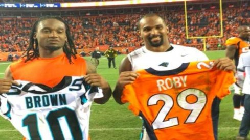 Bradley Roby and Philly Brown swap jerseys