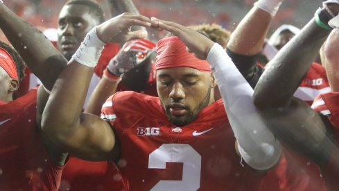Marshon Lattimore came up huge with a pair of interceptions.