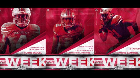 Curtis Samuel, Marshon Lattimore, and Parris Campbell as Players of the Week