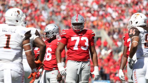 Ohio State's offensive line will face a new challenge at Oklahoma with communication due to crowd noise.