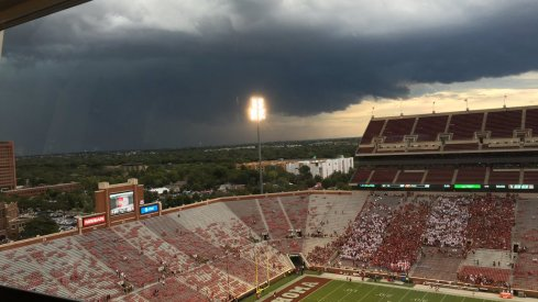 Ohio State-Oklahoma kickoff delayed until 9 p.m. ET due to inclement weather.