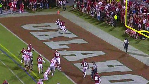 Noah Brown touchdown against Oklahoma.