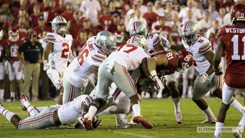 Jerome Baker racked up seven stops and a pick six as part of a huge night in Norman.
