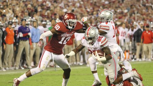 Mike Weber takes another step in his development with strong performance at Oklahoma.