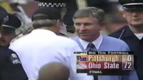 Ohio State destroyed Pittsburgh, 72-0, on September 21st, 1996.