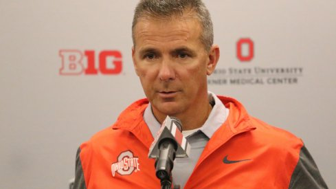 Urban Meyer addresses the media.