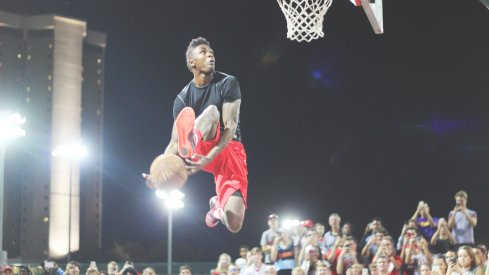 Kam Williams soars at last year's 'Buckeyes on the Blacktop' event.