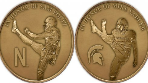 Sam Foltz Mike Sadler honorary coin.