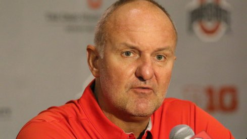 Thad Matta meets with the media.