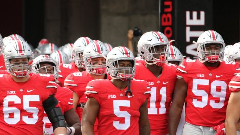 Ohio State takes the field vs. Rutgers.