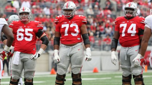 Ohio State's offensive line manhandled Rutgers to the tune of 410 rushing yards.