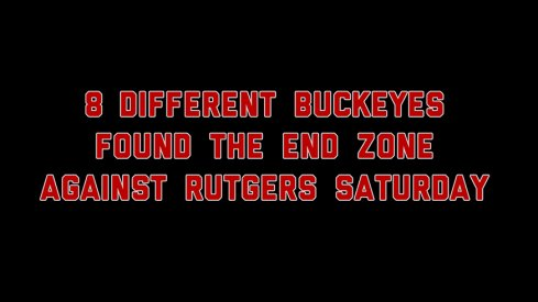 Eight different Buckeyes scored touchdowns Saturday against Rutgers