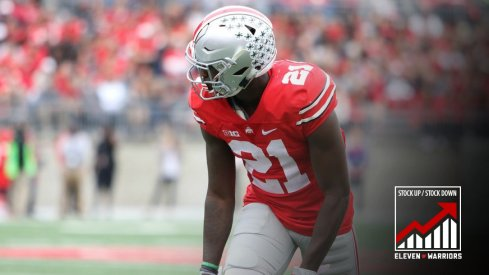 Ohio State's Parris Campbell scored his first career touchdown Saturday.
