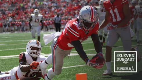 Demario McCall reaches out for the touchdown against Bowling Green.
