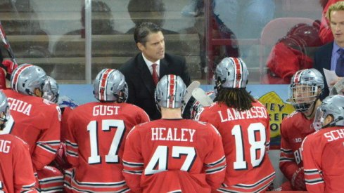 Ohio State hockey came up just short of victory in the Ice Breaker title game.