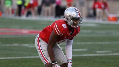 Gareon Conley lines up against Indiana.