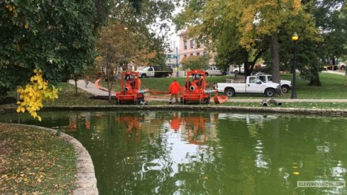 Crews begin draining Mirror Lake