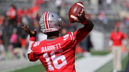 J.T. Barrett tallied 230 total yards and two touchdowns against the Hoosiers.
