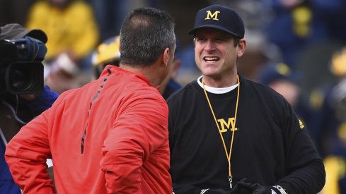 Urban Meyer, Jim Harbaugh before last year's version of The Game.