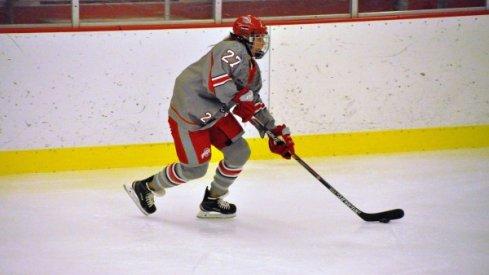 Lauren Spring skates for the Ohio State women's hockey Buckeyes.