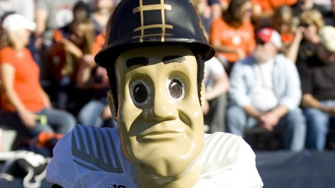 Purdue Pete watches over Boilermaker football.