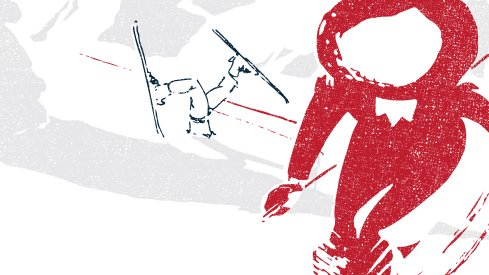 Brutus shreds the white-out conditions in this week's game poster.