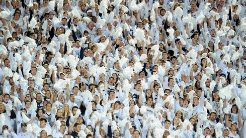 Penn State fans in the midst of a white out.
