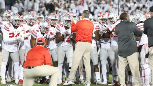 Urban Meyer readies his team before a loss to Penn State.