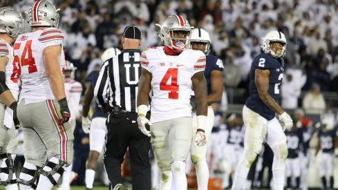 Curtis Samuel lines up against Penn State