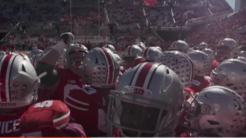 Ohio State-Northwestern trailer.