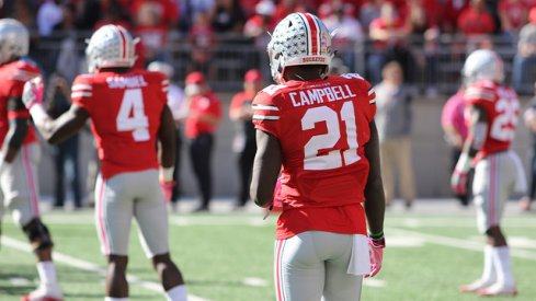 Parris Campbell leaves Northwestern game.