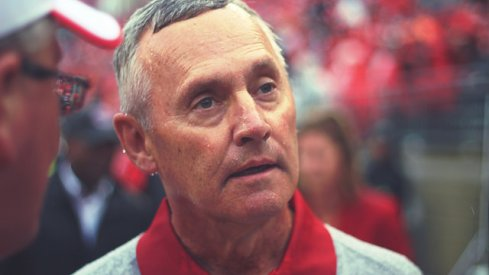 Jim Tressel reacting to Andy Geiger's news. Maybe.