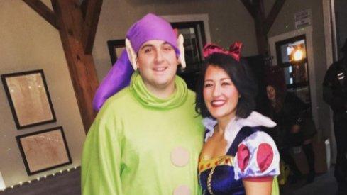 Corey Linsley and his wife on Halloween.
