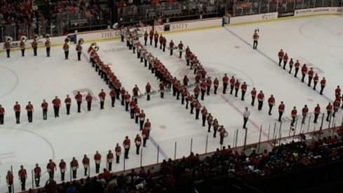 A taste of this week's performance of Script Ohio on ice!