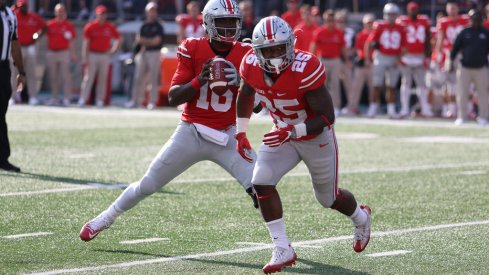 J.T. Barrett and Mike Weber in the Ohio State backfield.