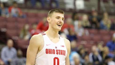 Ohio State freshman Micah Potter started Sunday's exhibition.