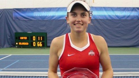 Francesca Di Lorenzo wins second consecutive national indoor collegiate championship.