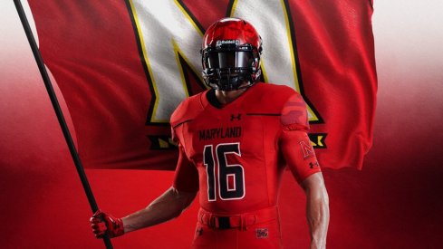 Maryland jerseys to be worn against Ohio State.