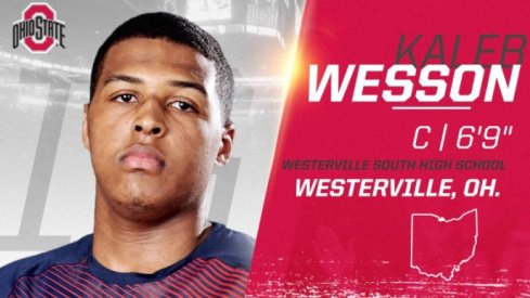 Kaleb Wesson from Westerville, Ohio.