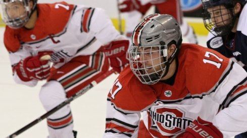 Dave Gust and Nick Schilkey lead the Ohio State men's hockey Buckeyes.