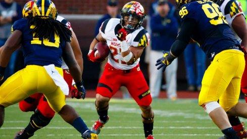 Maryland running back Lorenzo Harrison against Michigan.