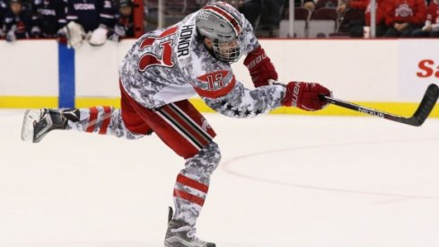 Dave Gust recorded four goals in Ohio State hockey's series against Connecticut.