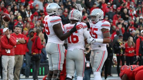 Ohio State's offense has 14 touchdowns in the last eight quarters.