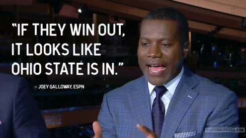 Joey Galloway thinks Ohio State is in the playoffs if they win out – regardless of whether or not the Buckeyes win the Big Ten.
