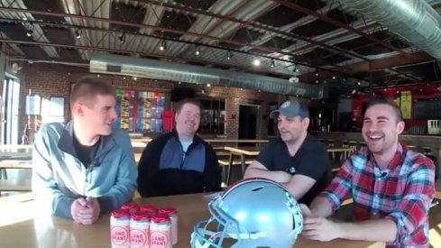 The gang discusses Buckeye football at Land-Grant Brewing.